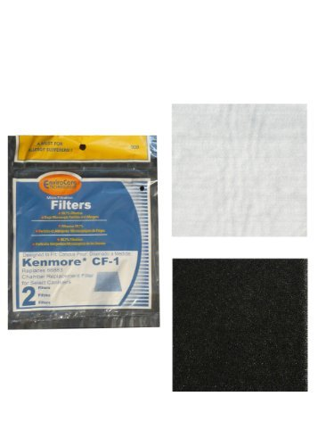 (2) Kenmore Sears Progressive Foam Filter CF1, Progressive & Whispertone, Panasonic Vacuum Cleaners, 86883, 86880, 20-86883, 2086883, 8175084