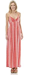 Classic Designs Womens Empire Waist Stretch ITY Halter Maxi Dress / Cover Up