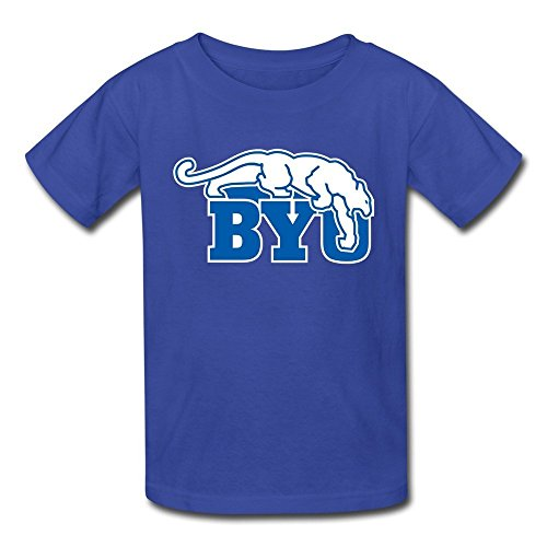 Ambom Youth BYU Cougars Kids Boys And Girls 100% Cotton T-Shirt L RoyalBlue (Deli Shirts compare prices)