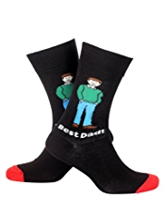Cotton Rich Best Dad Socks
