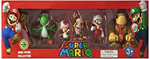 "2"" Figure 6 Pack Complete Set, Super Mario from Nintendo, NI-917, Series 3"