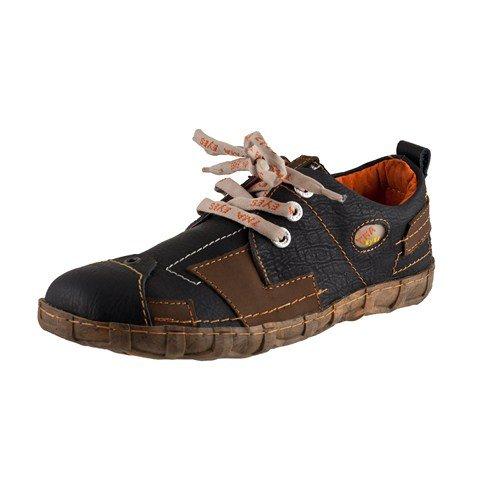 TMA EYES 2618 Schnürer Gr.36-42 mit bequemen perforiertem Fußbett 100% Leder 39.35 super leichter Schuh der neuen Saison. ATMUNGSAKTIV in Schwarz Gr. 36