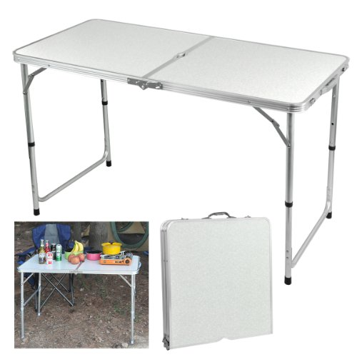 Review Of Gotobuy Outdoor 4 Foot Aluminum Folding Dining Table, White