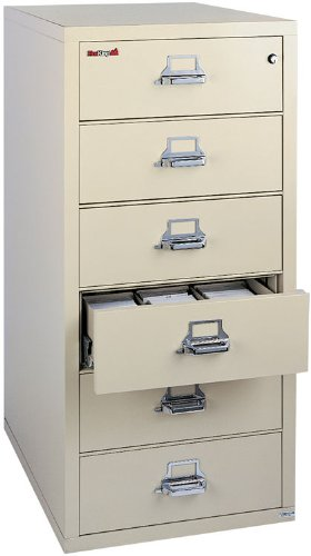 FireKing 6 Drawer Card and Check File with 3 Section Inserts