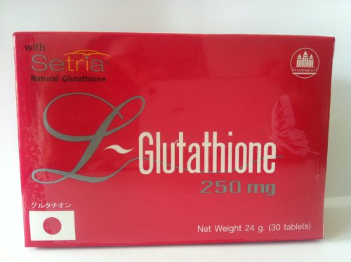 3 Pack L-Glutathione 250 Mg Dietary Supplement 30 Tablets
