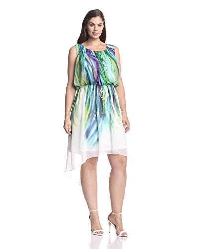 Sandra Darren Plus Women's High/Low Hem Dress