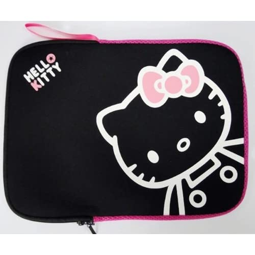 14 Cute Black and Red Hello Kitty Style Laptop Case/Bag