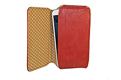 TOTTA PU Leather Hand Pouch For Micromax Bolt A66- Red