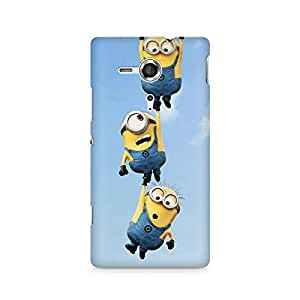 Ebby Minions Hanging Out Premium Printed Case For Sony Xperia SP M35H