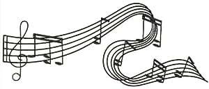 Abstract Musical Notes Piano Jazz Wall Artwork Art