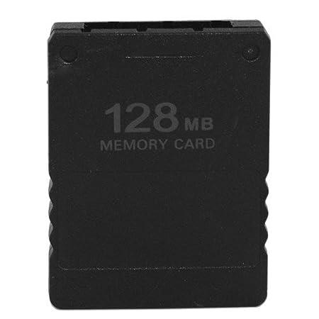 Skque Tarjeta de memoria de 128 MB Tarjeta de memoria para Sony Playstation 2 PS2 Slim, Negro