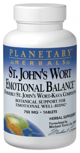 Planetary Formulas St. John'S Wort Emotional Balance, 750 Mg, Tablets, 120 Tablets
