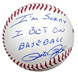 Pete Rose Autographed Baseball Sorry