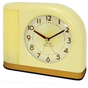 westclox 43000x 1950s moonbeam clock with lighted dial electronic alarm clocks. Black Bedroom Furniture Sets. Home Design Ideas