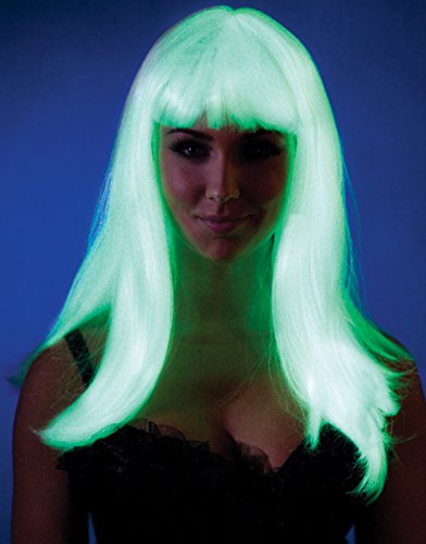 Glow in the Dark Straight Wig Costume Accessory