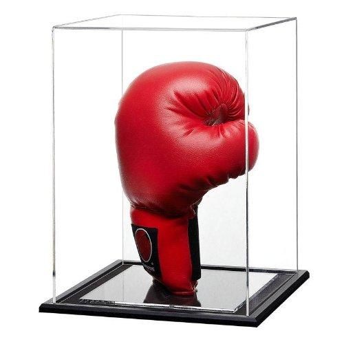 vertikale einzel boxhandschuh plexiglas vitrine mit einer schwarzen holzsockel g nstig online kaufen. Black Bedroom Furniture Sets. Home Design Ideas