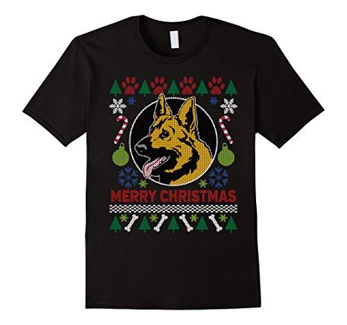 Men's German Shepherd Dog Breed Owners Ugly Christmas T-shirt
