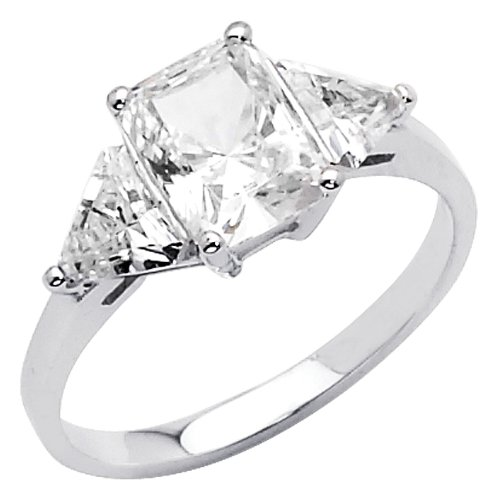 stone cz cubic zirconia ladies wedding engagement ring band size 8