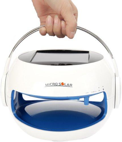 Girl And Lady'S Bluetooth Speaker - Cute - Eco Friendly - Solar Powered - Waterproof Ip44 - 10 Hours Battery --- (Blue) --- Microsolar B2