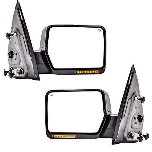 DEDC Pair 2004-2006 Ford F150 Power Heated with Signal Light Towing Mirrors For F150 2004 2005 2006 (2005 Ford F150 Towing Mirrors compare prices)