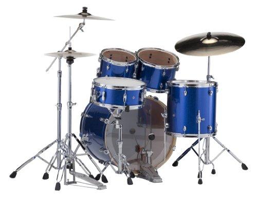 Pearl Exx705/C 5-Piece Export Fusion Drum Set With Hardware - Electric Blue Sparkle