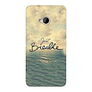 Enticing Just Breath Multicolor Back Case Cover for HTC One M7