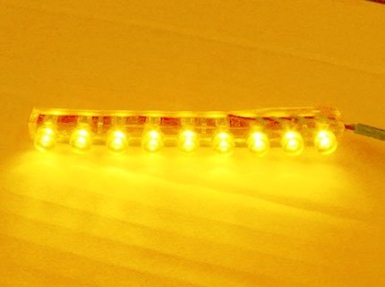 9 Led Light [Amber/Orange] [Water Proof/Flexible], 9 Led Strip Neon Pod Light For Cars / Motorcycles / Boats / Bikes / Atvs / Home / Aquarium Light Under Water / Etc Interior And Exterior Under Dash Lighting Kit - Citie Diy Led Kit. Pod Light Bright Led A
