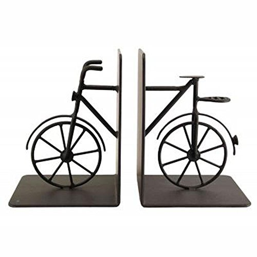 Pair of Black Heavy Duty Metal Bicycle Bookends
