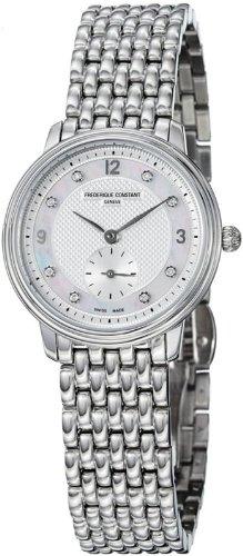 Frederique Constant Geneve Slimline FC-235MPWD16B Reloj elegante para mujeres con diamantes genuinos