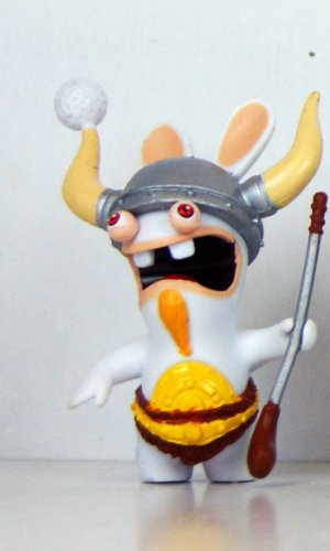 "Rabbids - Travel in Time - 2.75"" Figure - Golf Viking"