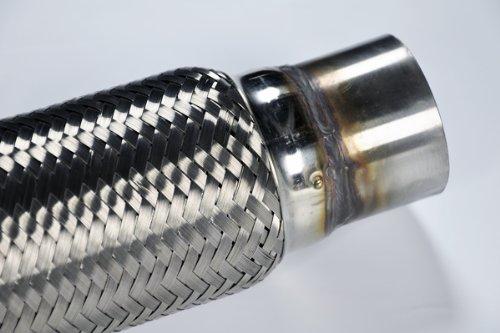 2 5 Flexible Exhaust Pipe : Quot mild steel exhaust flex pipe universal fit