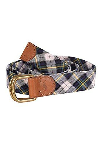 Polo Ralph Lauren Men'S Madras Plaid Pony Belt-Navy/Multi-Xl