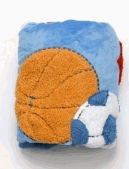 Just Born 3-D Textured Valboa Blanket - Sports front-1053769