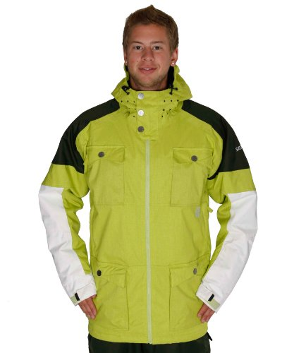 Sessions Men's Ecto Jacket, Lime, XX-Large
