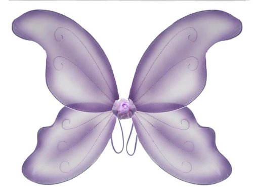 Purple Fairy Nylon Butterfly Wings Dress Up Girls Childs Kids Princess Costumes