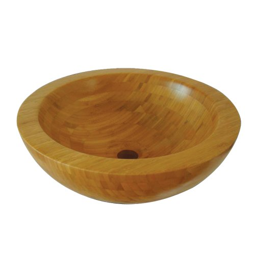 Yosemite Home Decor SHEA Natural Bamboo Topmount Round Vessel