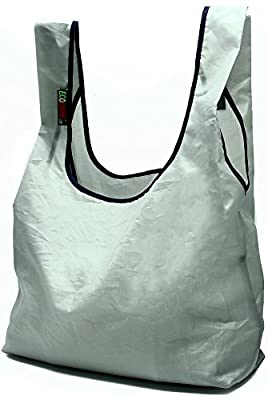 EcoJeannie 4 Pack Super Strong Ripstop Nylon Foldable Reusable Bag Grocery Shopping Tote Bag with built-in Pouch