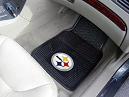 Exclusive By FANMATS NFL - Pittsburgh Steelers Heavy Duty 2-Piece Vinyl Car Mats