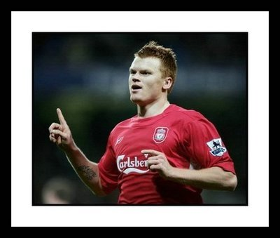 John Arne Riise Liverpool Framed 8x10 Photo - Goal Celebration