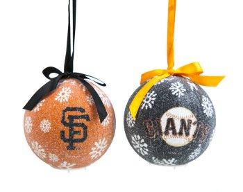San Francisco Giants Boxed LED Ornaments Set of 6