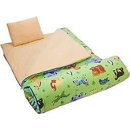 Wildkin Olive Kids Wild Animals Sleeping Bag-As Shown