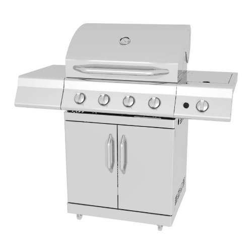 Amazon.com : Master Forge 4-Burner Stainless Steel Gas
