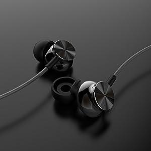 Betron BS10 Earphones Headphones, Powerful Bass Driven Sound, 12mm Large Drivers, Ergonomic Design, Black (Color: Black, Tamaño: 1.4x0.78x1.18inch)