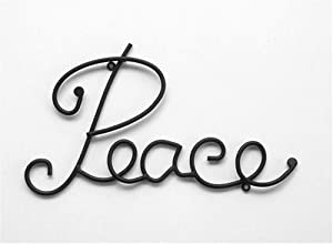 Wrought Iron Metal Wall Words / Sculpture / Art / Quotes - Peace (Wall Mount)