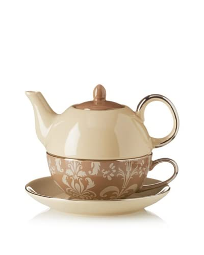Classic Coffee & Tea Nouveau Chic Tea For One With Saucer  [Beige]