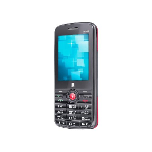 iBall Fab 2.4u Black + Red Mobile Phone