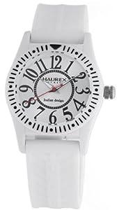 Haurex Italy PW331UW1 - Reloj de cuarzo, correa de goma color blanco