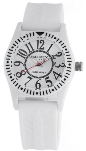 Haurex Italy Childrens Watch PW331UW1 Promise B Pc with Silver Dial and White Rubber Strap