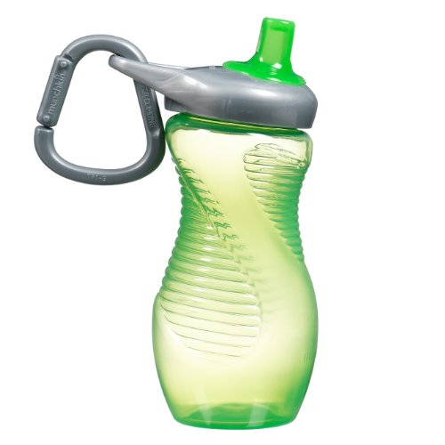Munchkin 12 Ounce Mighty Grip Toddler Sports Bottle, Green front-614463