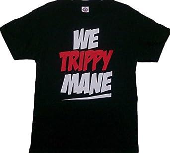 Amazon.com: We Trippy Mane Black Juicy J T Shirt: Clothing